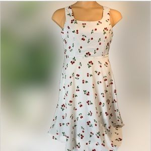 Allegra K cherry swing dress size M